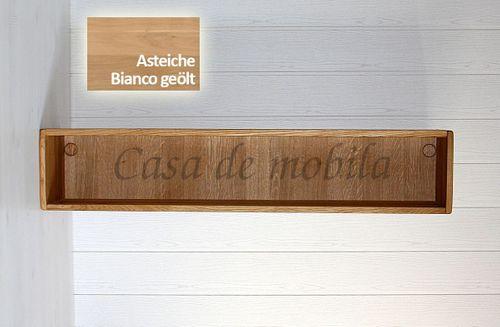 Hängeregal NYON 24x24cm rustikale Asteiche Bianco geölt Wandboard Wandregal