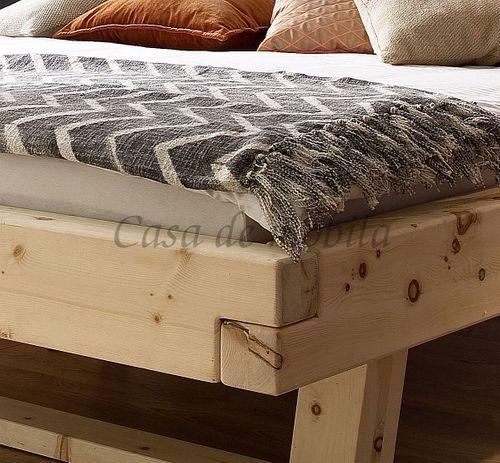 Doppelbett UNIKAT 180x200 Zirbe Arve natur Zirbelkiefer Balkenbett Massivholz – Bild 3