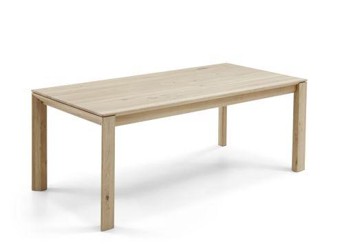 Massivholz Esstisch in rustikaler Asteiche Bianco geölt DION (mit fester Platte oder Funktion) – Bild 1