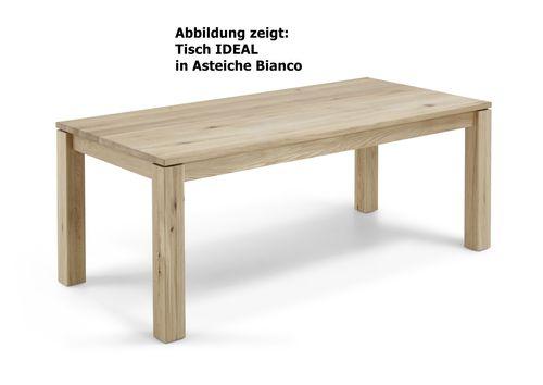 4-Fuß-Esszimmertisch in Asteiche geölt IDEAL Massivholz Esstisch – Bild 2