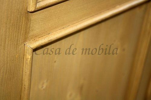 Garderobe VICTORIA 105x205x25cm antik gewachst Massivholz Fichte – Bild 2