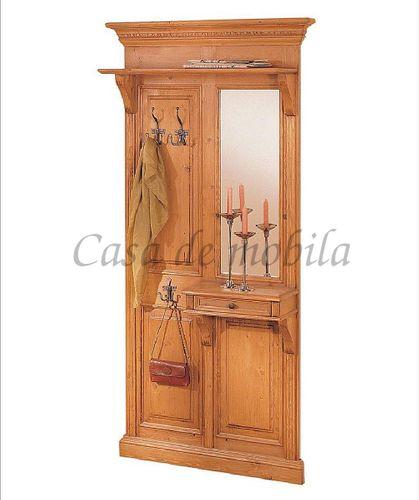Garderobe VICTORIA 105x205x25cm antik gewachst Massivholz Fichte – Bild 1