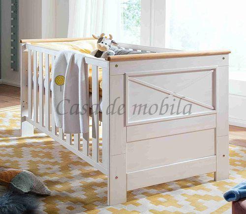 Babybett FLAIR 80x78x144cm Kiefer Gitterbett Kinderbett massiv Landhaus weiß – Bild 2