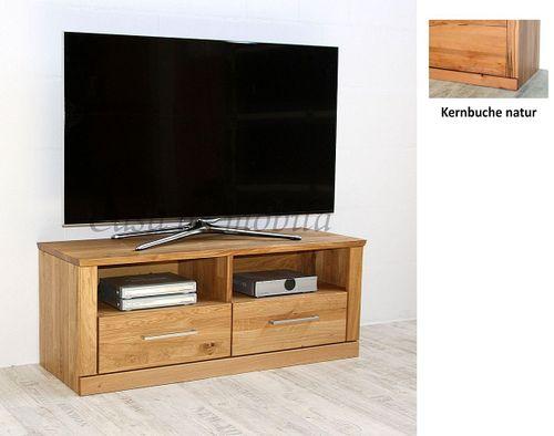 TV-Lowboard PALERMO 114x45x40cm Kernbuche Fernsehkommode natur geölt – Bild 2