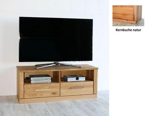 TV-Lowboard PALERMO 114x45x40cm Kernbuche Fernsehkommode natur geölt – Bild 1
