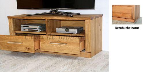 TV-Lowboard PALERMO 114x45x40cm Kernbuche Fernsehkommode natur geölt – Bild 4