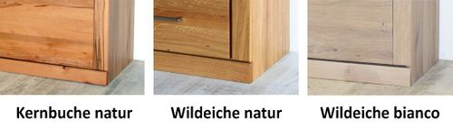 Highboard PALERMO 102x143x40cm 2türig Wildeiche Bianco Esszimmerschrank Glastür links – Bild 10