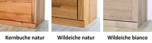 Vitrine PALERMO 102x204x40cm Wildeiche Vitrinenschrank geölt Glastür rechts – Bild 13