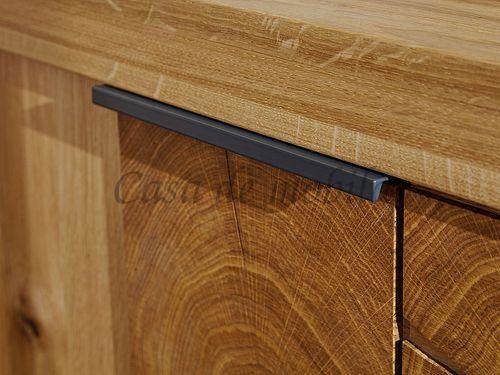 TV-Lowboard RUSTIC 223x51x44cm 3türig Wildeiche massiv geölt Hirnholz TV-Kommode – Bild 8