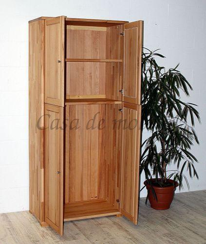 Massivholz Dielenschrank 4türig CONTRA 89x200x46cm Flurschrank Garderobenschrank – Bild 3