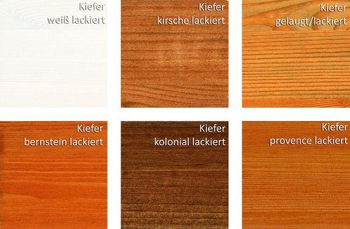 Massivholz Standregal CONTRA 47x84x33cm mit Korb, Schuhregal Flurkommode Dielenschrank – Bild 7