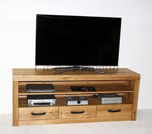TV-Kommode 165x65x42cm Wildeiche Lowboard natur geölt – Bild 9