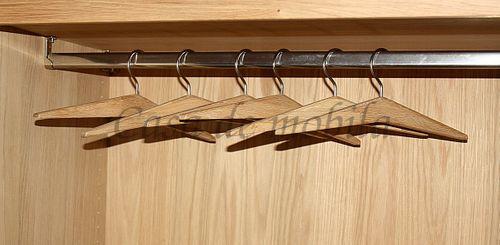 Vollholz Kleiderbügel Holzbügel Garderobenbügel Wildeiche Bianco massiv Holz – Bild 6