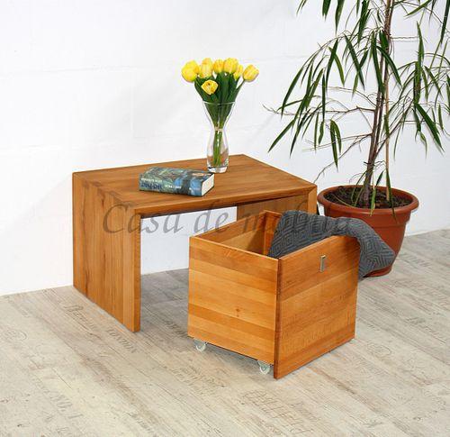 Spielzeug-Kiste CAMILLA 43x39x39cm Kernbuche Truhe auf Rollen Massivholz natur geölt – Bild 4