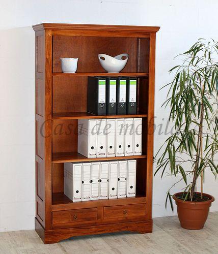 Bücherregal TOSCANA 98x178x37cm Massivholz kirschbaumfarben lackiert Pappel Büroregal