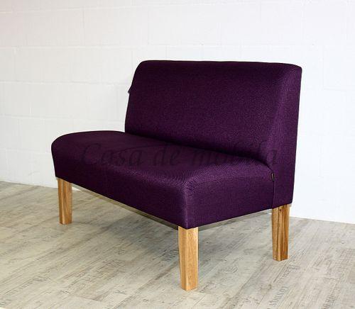 Barnickel Tischsofa CADIZ mit violettem Stoffbezug – Bild 3