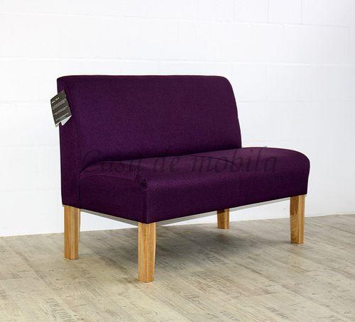 Barnickel Tischsofa CADIZ mit violettem Stoffbezug – Bild 1