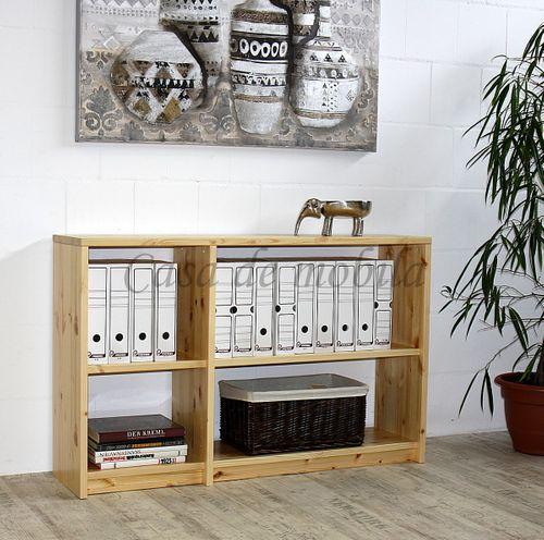 Bücherregal CONTRA 134x84x33cm Massivholz Raumteiler Kiefer massiv – Bild 5