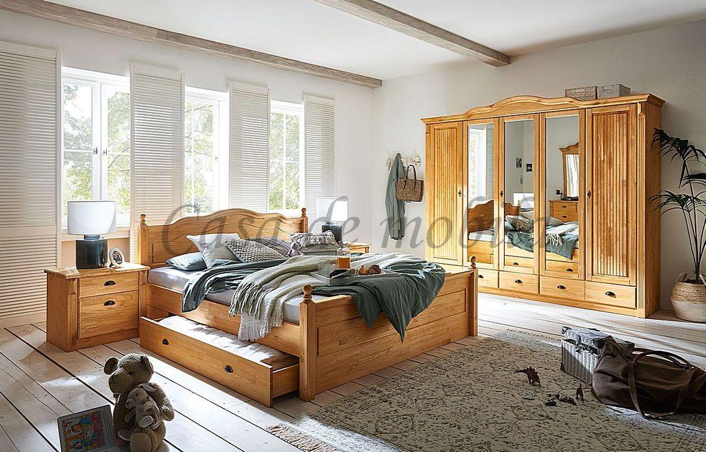 Schlafzimmer 4teilig Inga Kiefer Massiv Gelaugt Geolt Landhaus Casade Mobila