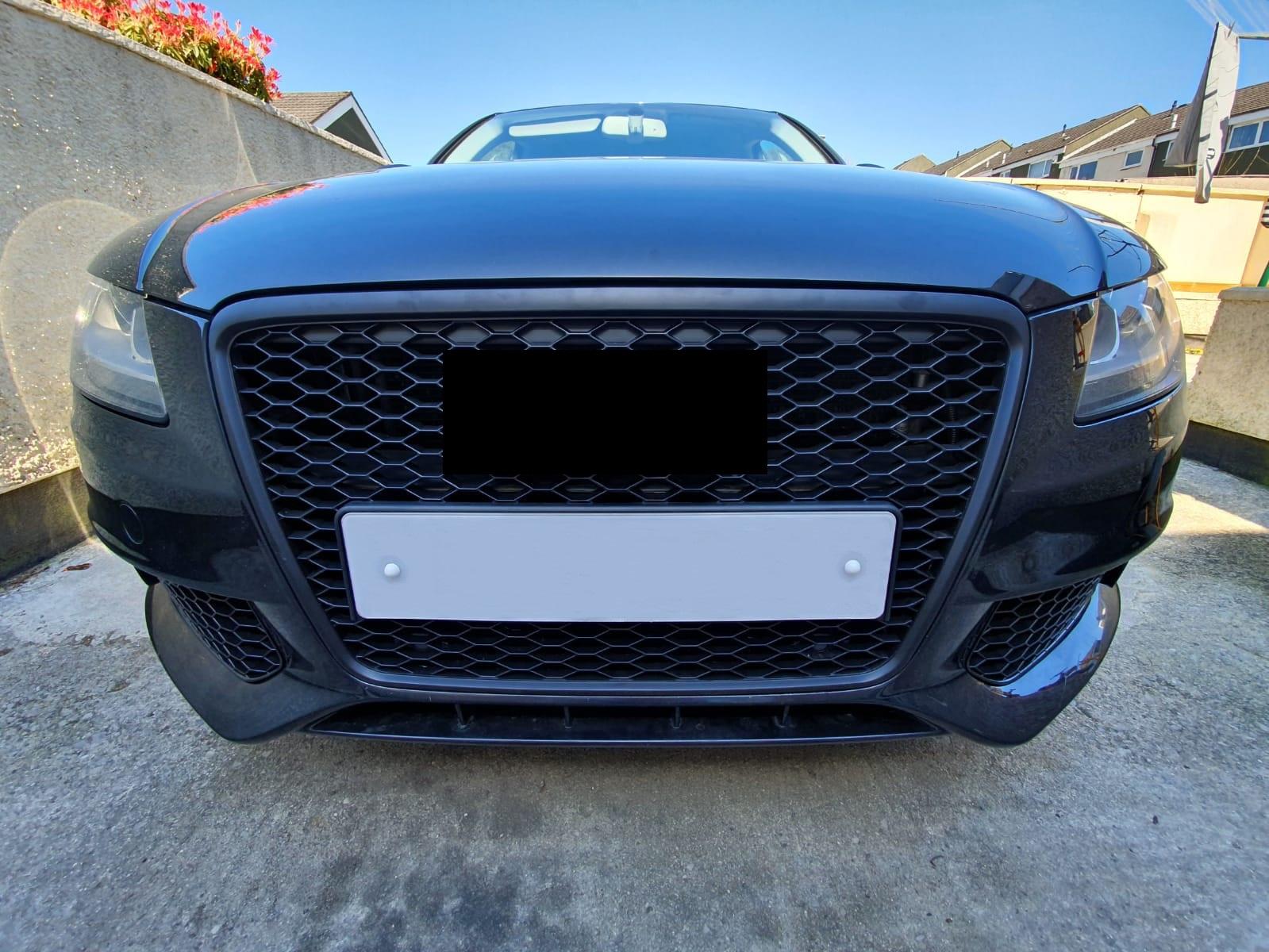 Audi A4 B8.5 RS RS4 style noir brillant en nid d/'abeille radiateur calandre pare-choc 2013-2016