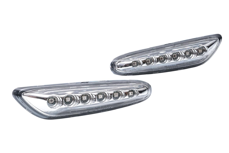 2x Clair Chrome Côté Indicateur DEL Repeater Light BMW E81 E87 E90 E92 E60 E61 X3