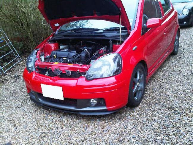 Toyota Yaris Mk1 1 Front Bumper Cup Chin Spoiler Lip Sport