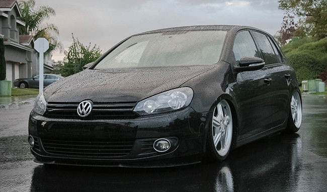 f r vw golf 6 front spoiler lippe frontsch rze frontlippe. Black Bedroom Furniture Sets. Home Design Ideas