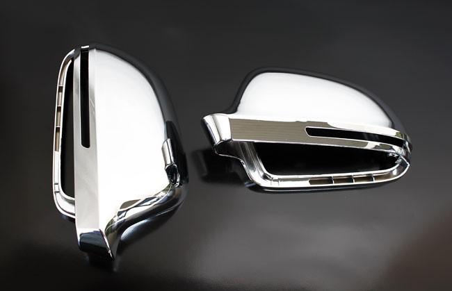 Audi A3 S3 8p Chrome Wing Mirror Door Caps Cover Trim Case Housing S Line 08 10 Ebay