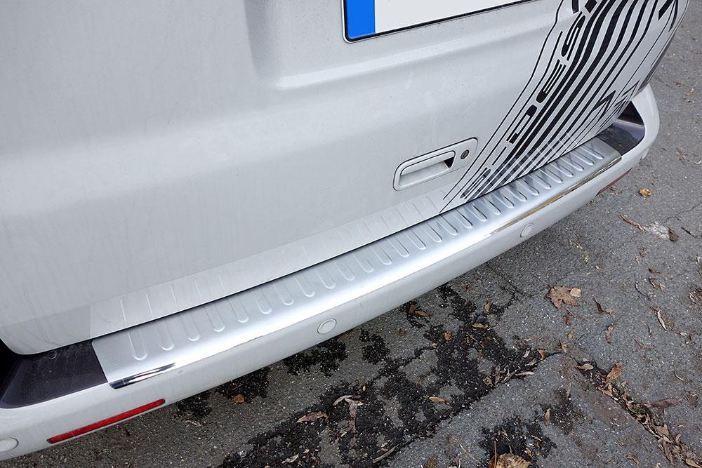 Per VW T5 TRANSPORTER protezione PER PARAURTI POSTERIORE COPERTURA Guard Trim Chrome davanzale