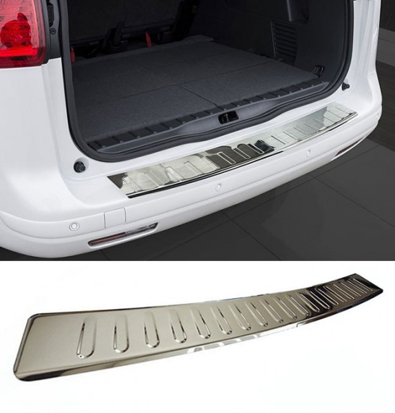 Brushed Bumper Protector Sill Trim Cover To Fit Vivaro 2014+