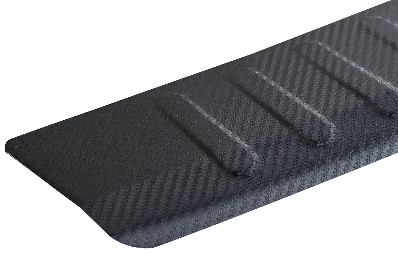 Für BMW F11 Touring ab 2010 Ladekantenschutz Carbon Look mit Abkantung Metall