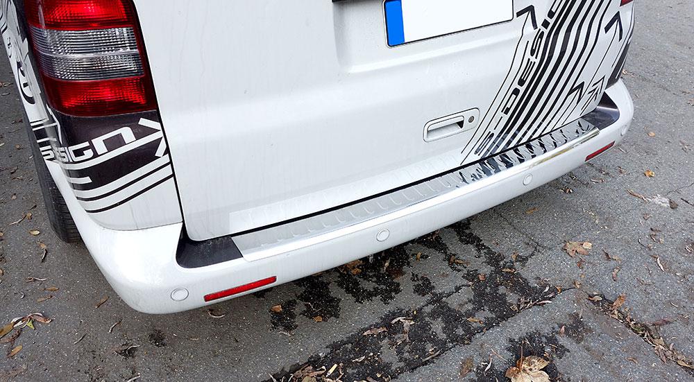 Für Mercedes Benz GLC X253 2015 Ladekantenschutz Edelstahl mit Abkantung Chrom