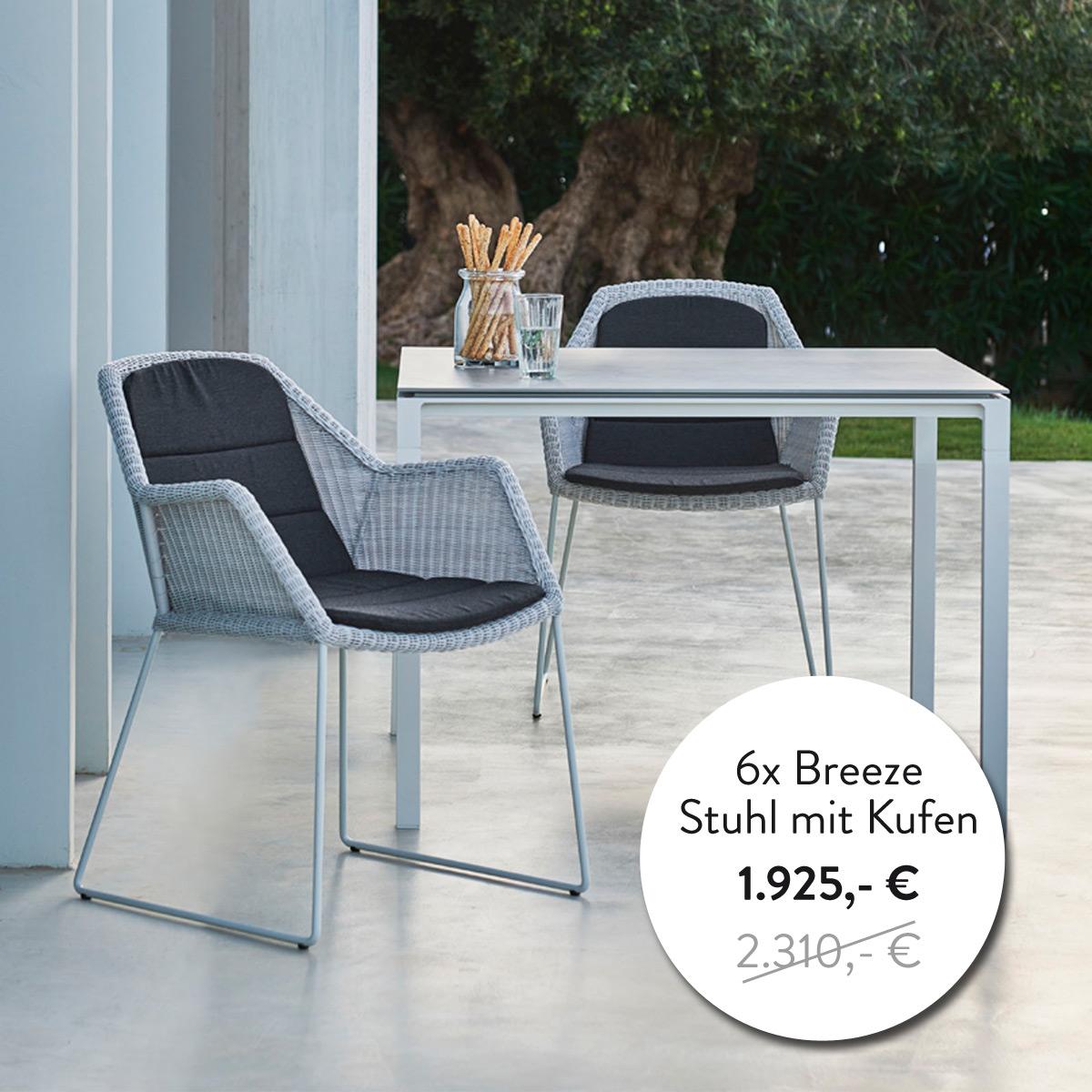 Breeze Stühle von Cane-line
