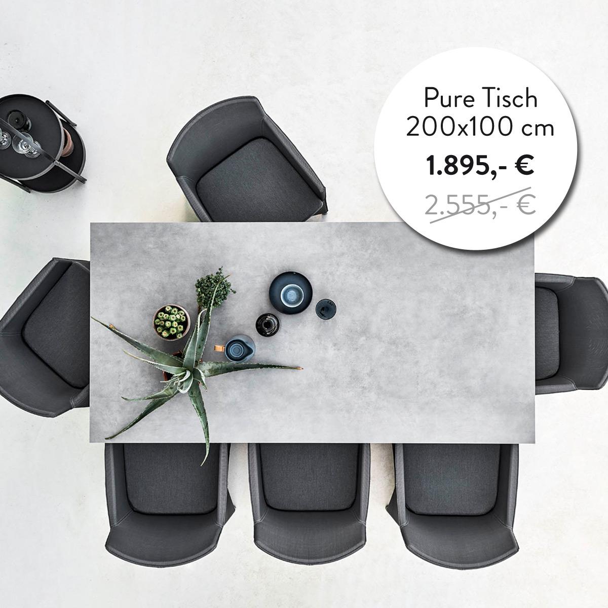 Pure Esstisch 200x100