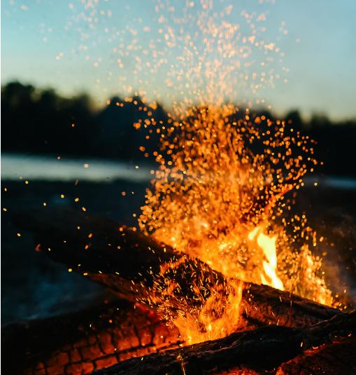 Lagerfeuer im Freien