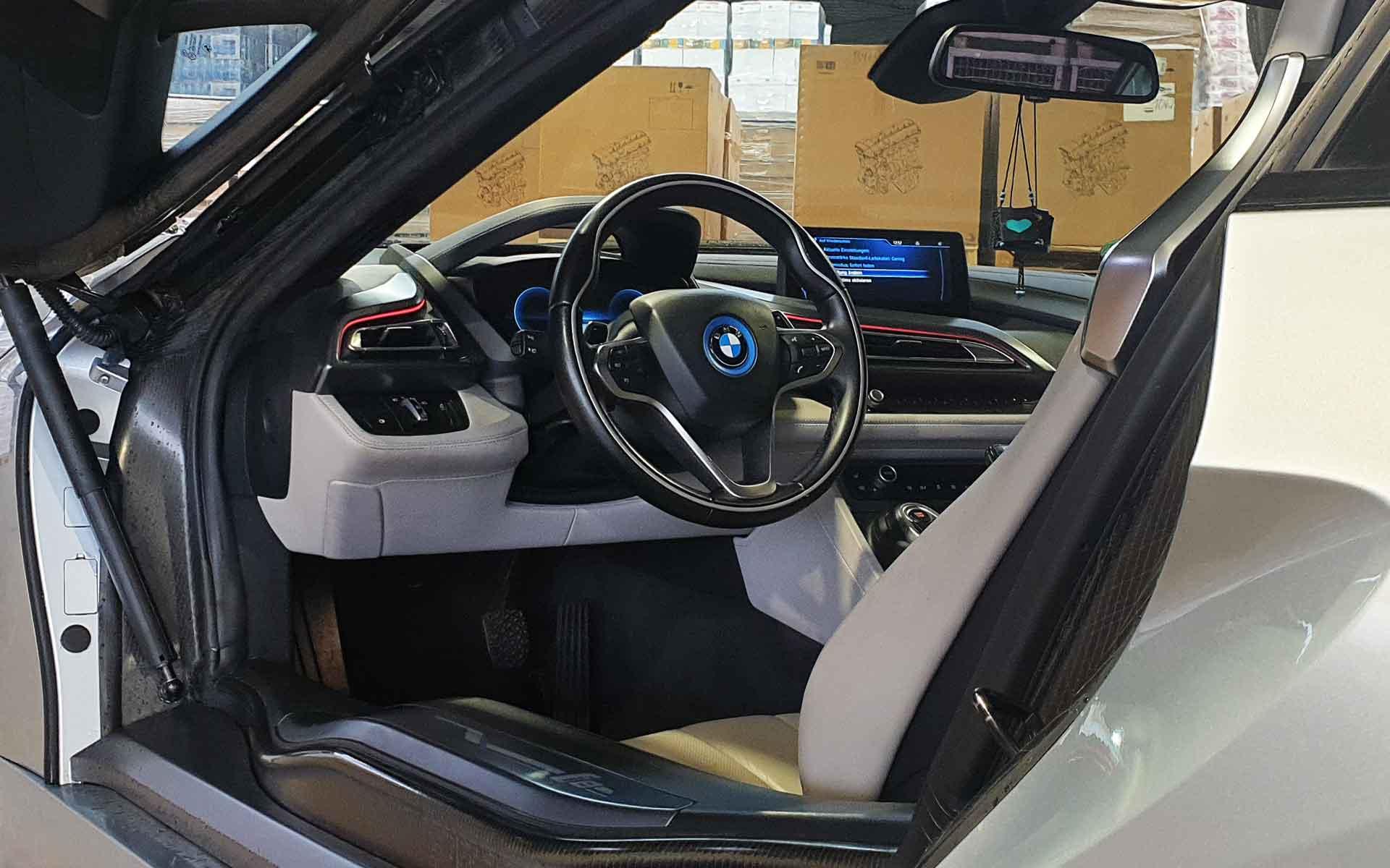 Interior des BMW i8 Coupé