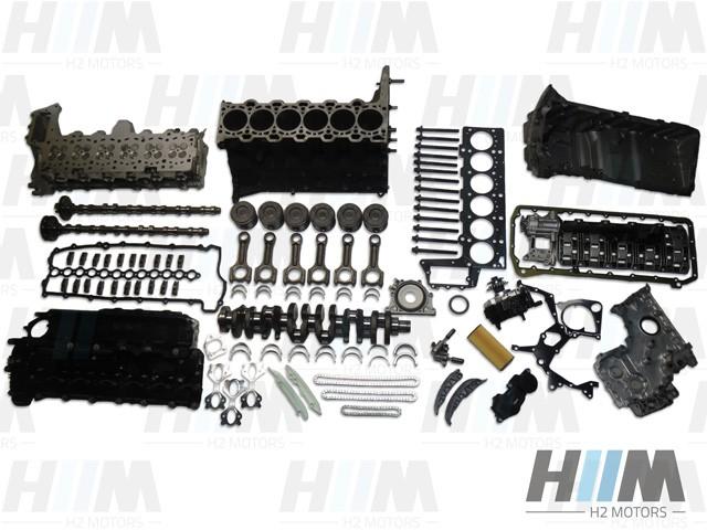 BMW E60 E60LCI E61 E61LCI E90 E91 E92 E93 E65 E66 330d 530d 730d 231PS 235PS M57N2 306D3 Diesel Motor Engine Triebwerk Überholung mit Einbau