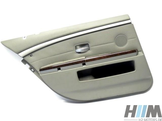 BMW E66 7er Langversion Türverkleidung hinten links Vollleder Flanellgrau