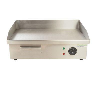 Grillplatte Elektrogrill, für gleichmäßig gegrilltes Fleisch. Aus Edelstahl mit glatter Platte in Gastroqualität – Bild 1