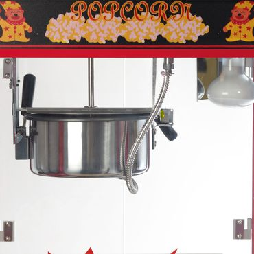 Große Popcornmaschine für knusprige Popcorn mit Wärmeplatte und Innenbeleuchtung - ca. 5 Kg Popcorn pro Stunde - Maße 600 x 460 x 820 mm -  Gewicht ca 23 kg – Bild 4
