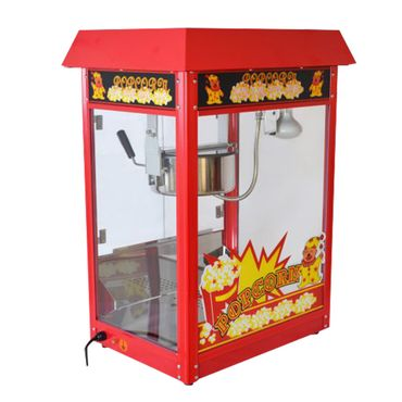 Große Popcornmaschine für knusprige Popcorn mit Wärmeplatte und Innenbeleuchtung - ca. 5 Kg Popcorn pro Stunde - Maße 600 x 460 x 820 mm -  Gewicht ca 23 kg – Bild 1