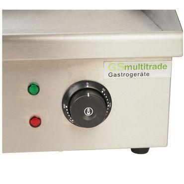 Grillplatte elektrisch, Elektrogrill, Edelstahl-Gehäuse mit halb geriffelter und glatter Grillplatte – Bild 2