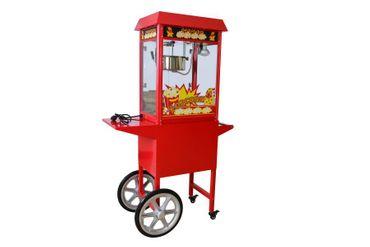 Popcornmaschine mit Wagen für besonders knusprige Popcorn mit Edelstahltopf Wärmeplatte und Innenbeleuchtung – Bild 2