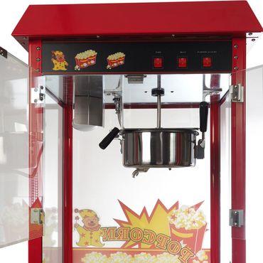 Popcornmaschine mit Wagen für besonders knusprige Popcorn mit Edelstahltopf Wärmeplatte und Innenbeleuchtung – Bild 3