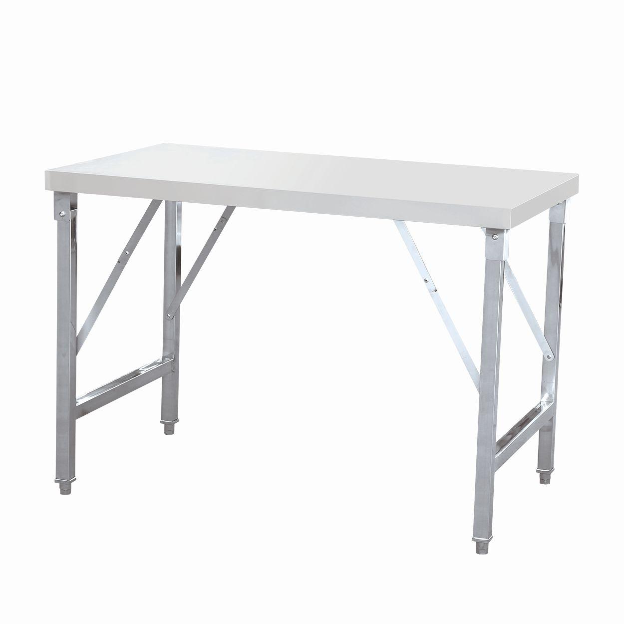 Tisch Aus Edelstahl Klappbar Fur Gastro Arbeitstisch 120 Cm Oder 150 Cm Lang Gs Multitrade