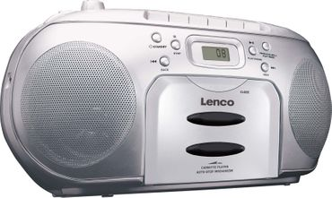 Lenco Radio/CD/Kassetten-Player SCD-420 SILVER