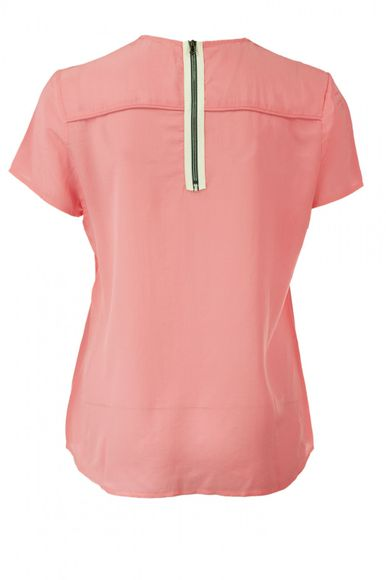 Isola Seiden Top in Strawberry Pink