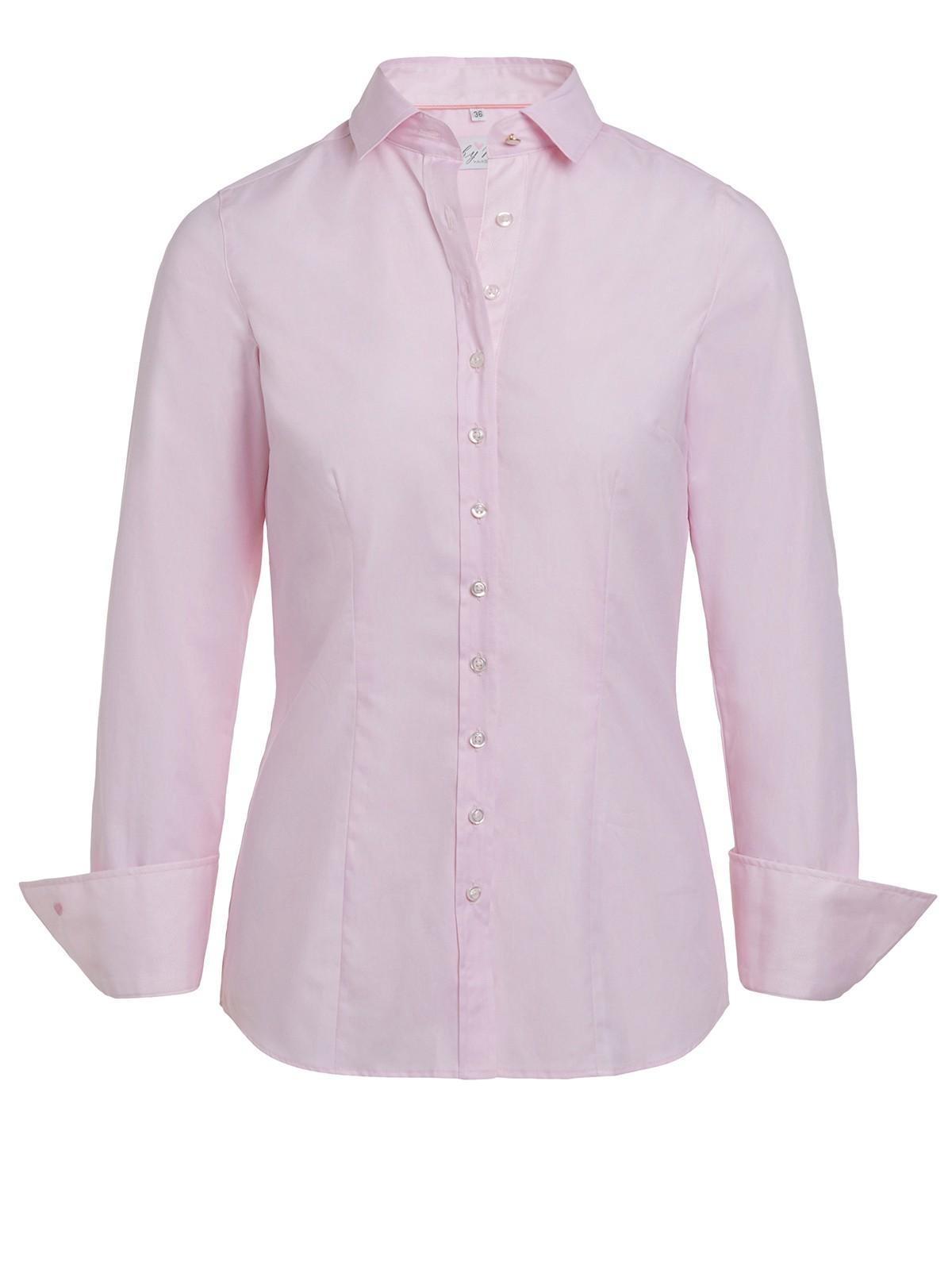 Klassische Bluse Parma in Rosa