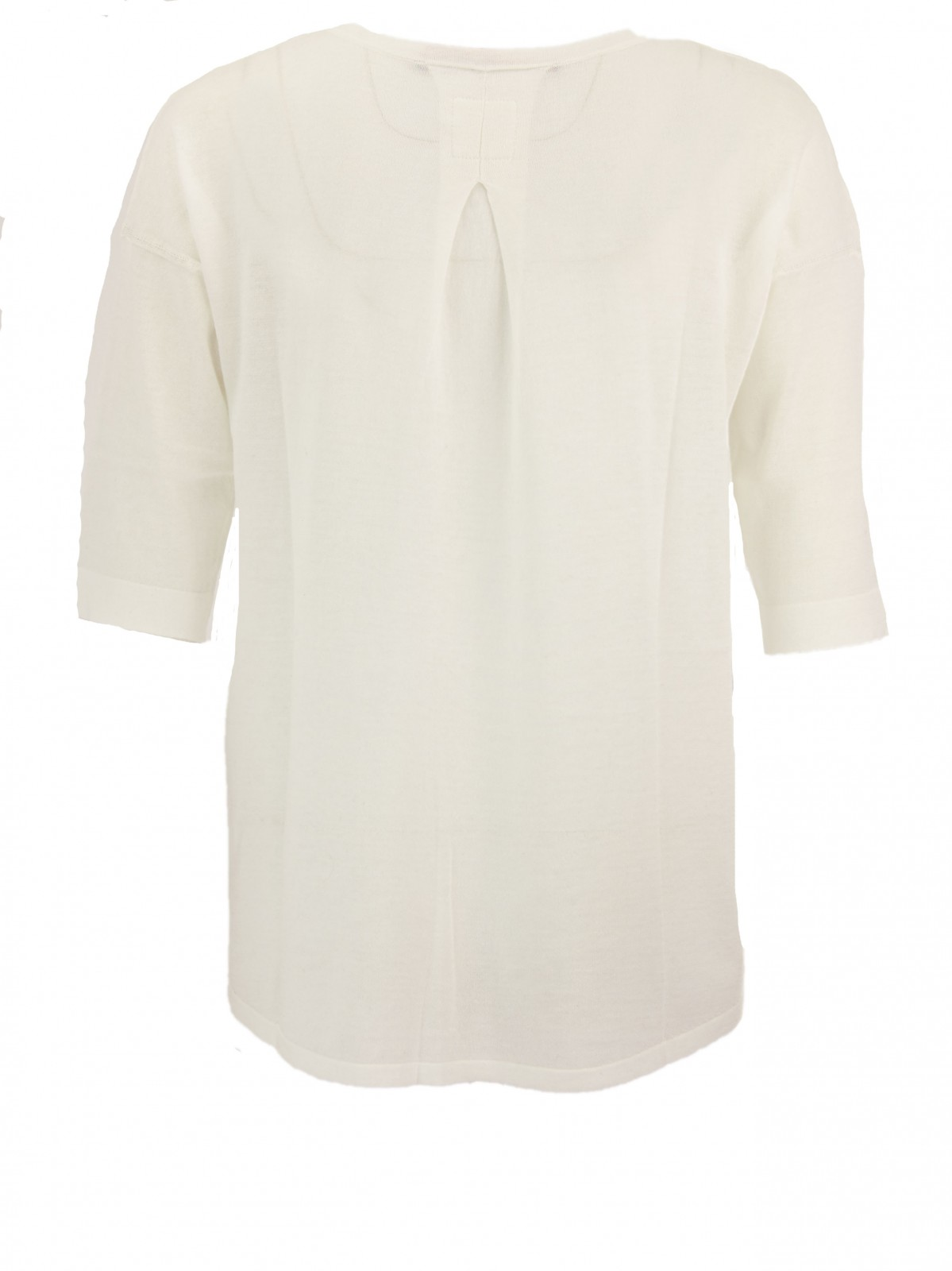 Feinstrick Boxy Shirt in White