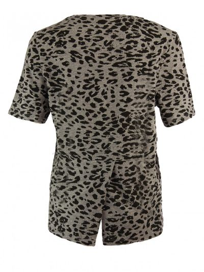 Nasty Leo-Print Shirt in Grau-Schwarz